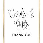 Cards And Gifts Wedding Sign | Diy Wedding | Wedding Signs   Cards Sign Free Printable