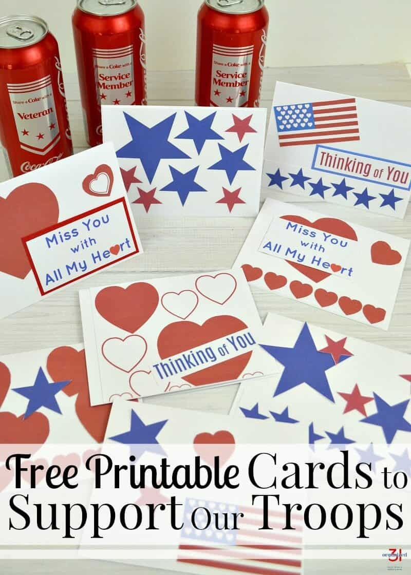 Cards To Support Our Troops - Free Printable - Organized 31 - Free Printable Military Greeting Cards