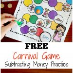 Carnival Subtracting Money Game | Free Worksheets For Kids   Free Printable Game Money