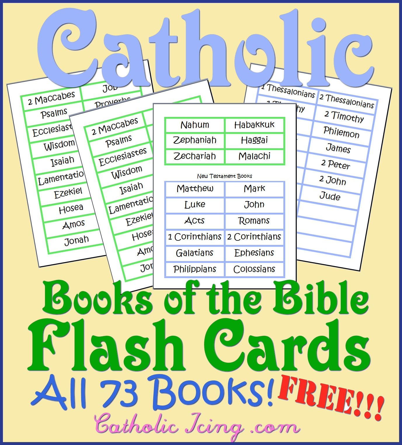 Catholic Books Of The Bible Resources For Kids- Song, Free - Free Printable Catholic Mass Book