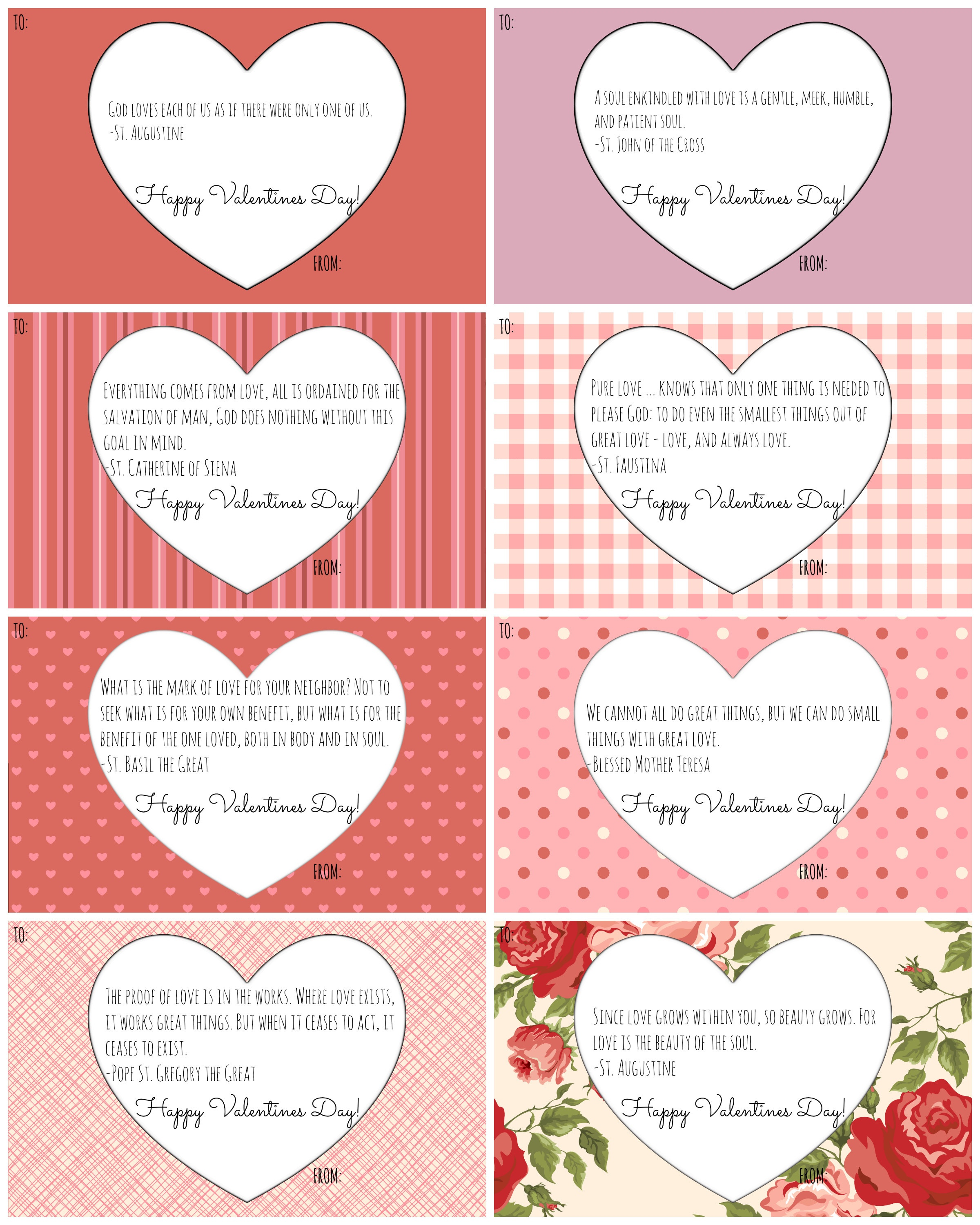 Catholic Valentine Cards: Free Printables! - California To Korea - Free Printable Valentines Day Cards For Her