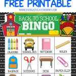 Celebrate A New School Year With Free Printable Back To School Bingo   Free Printable Back To School