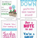 Celebrate Teacher Appreciation Week With These Free Printables!   Hands Down You Re The Best Teacher Around Free Printable