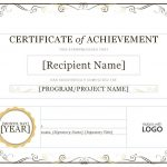Certificate Of Achievement Pdf Samples   Free Printable Certificates Of Accomplishment