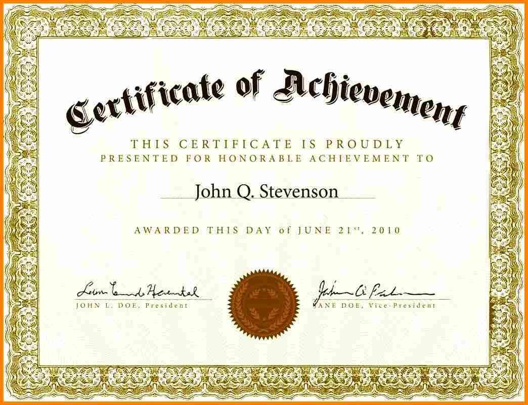 Certificate Template Free Printable | Ellipsis - Free Printable Certificates