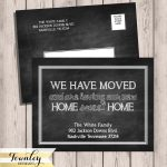 Chalkboard Moving Announcements We've Moved New Home | Etsy   Free Printable Moving Announcement Templates