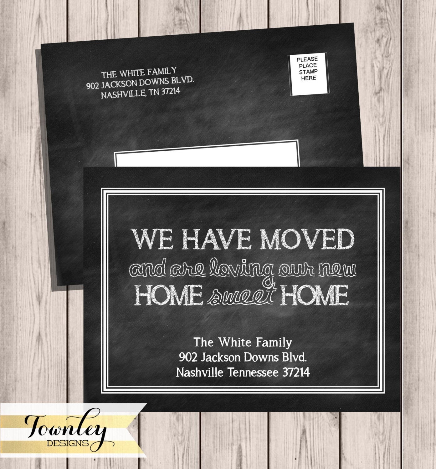 Chalkboard Moving Announcements We've Moved New Home   Etsy - Free Printable Moving Announcement Templates
