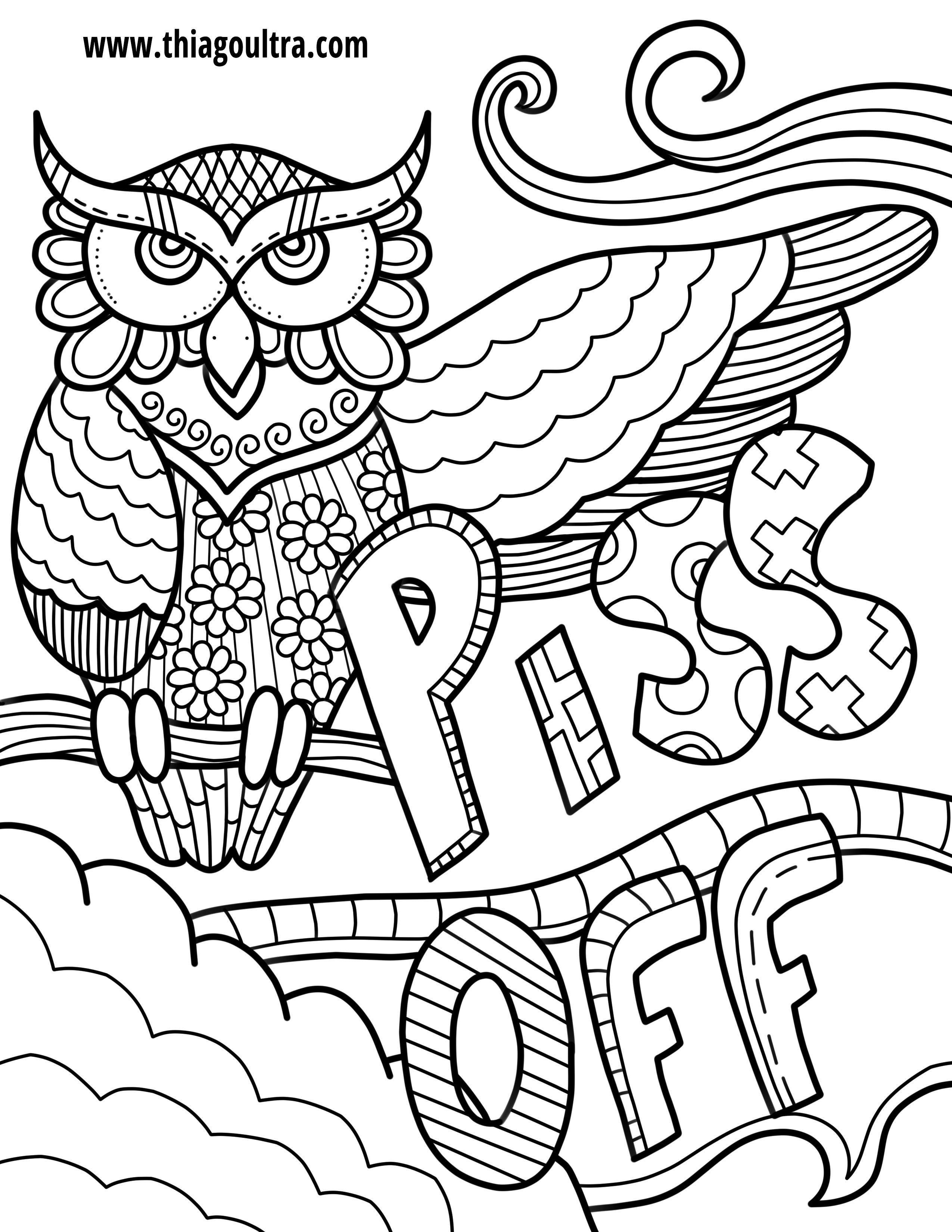 Challenge Free Printable Coloring Pages For Adults Only Swear Words - Swear Word Coloring Pages Printable Free