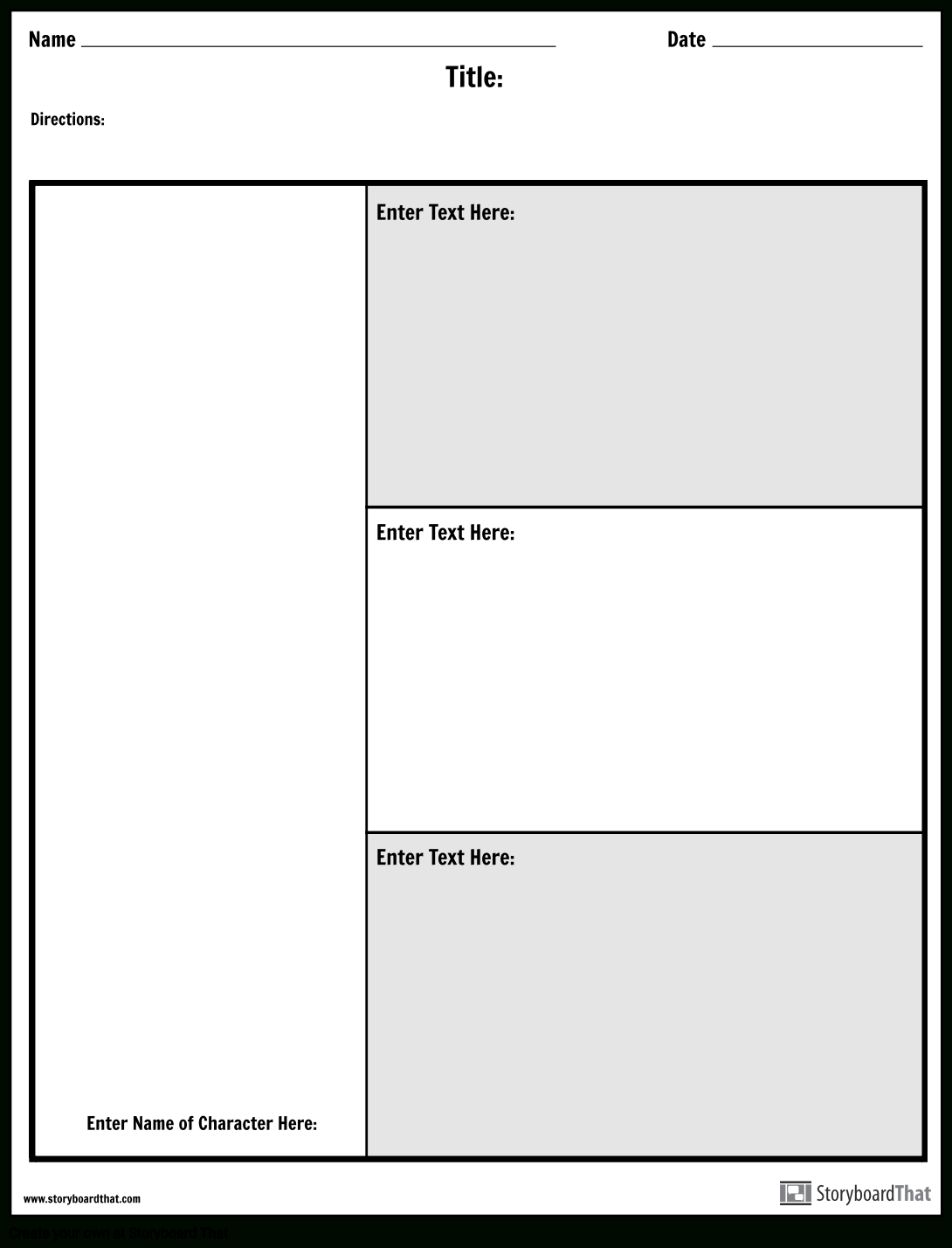 Character Map Graphic Organizer | Make A Character Map Worksheet - Free Printable Character Map