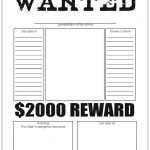 Character Wanted Posters | Free Printables | Resume Template Free   Literacy Posters Free Printable