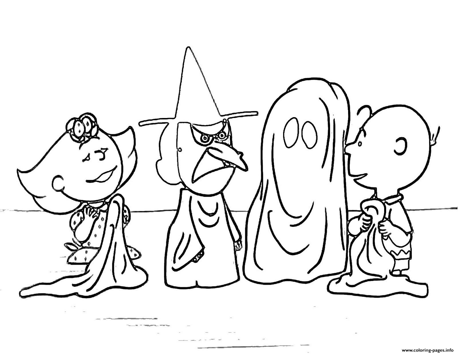 Charlie Brown Halloween S For Kidsc4D7 Coloring Pages Printable - Free Printable Charlie Brown Halloween Coloring Pages