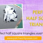 Charm Packs And Half Square Triangles Paper Templates   Printable Thangles Free