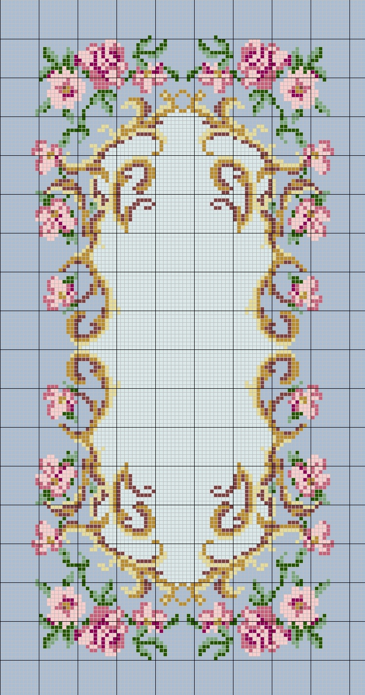 Charted Wool Latch Hook Kits In Floral Designs - Free Printable Latch Hook Patterns
