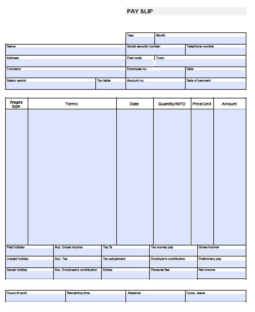 Check Stub Template Free | Pay Stub Template Free Blank-Usa-Pay-Stub - Free Printable Check Stubs Download
