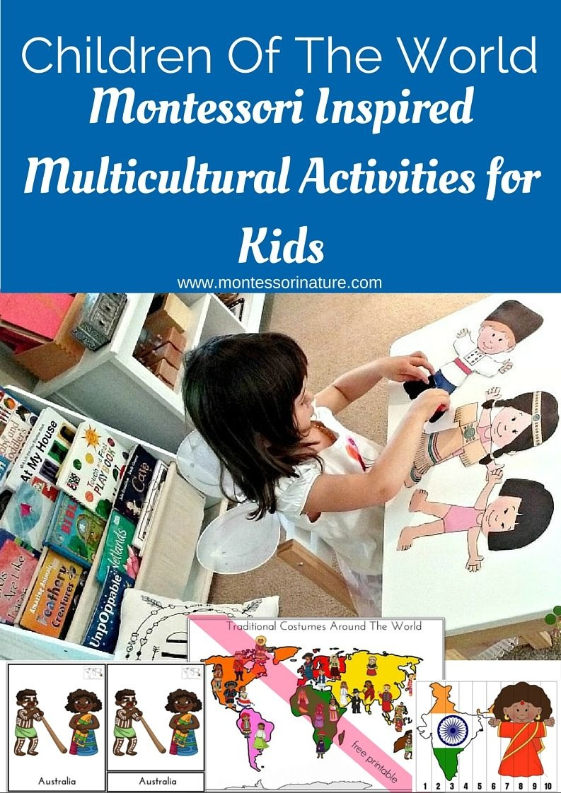 Children Of The World Multicultural Activities For Kids   Montessori - Free Printable Multicultural Posters