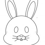 Children's Easter Bunny Mask   Free Printable Easter Masks