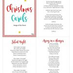 Christ Centered Christmas Carols: Free Printable | Christmas 2018   Free Printable Christmas Carols Booklet