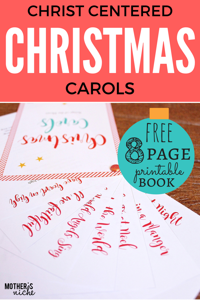 Christ-Centered Christmas Carols: Free Printable - Free Printable Christmas Carols Booklet
