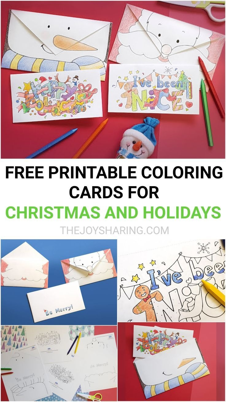 Christmas And Holiday Cards - Free Printable Coloring Cards - Christmas Cards For Grandparents Free Printable