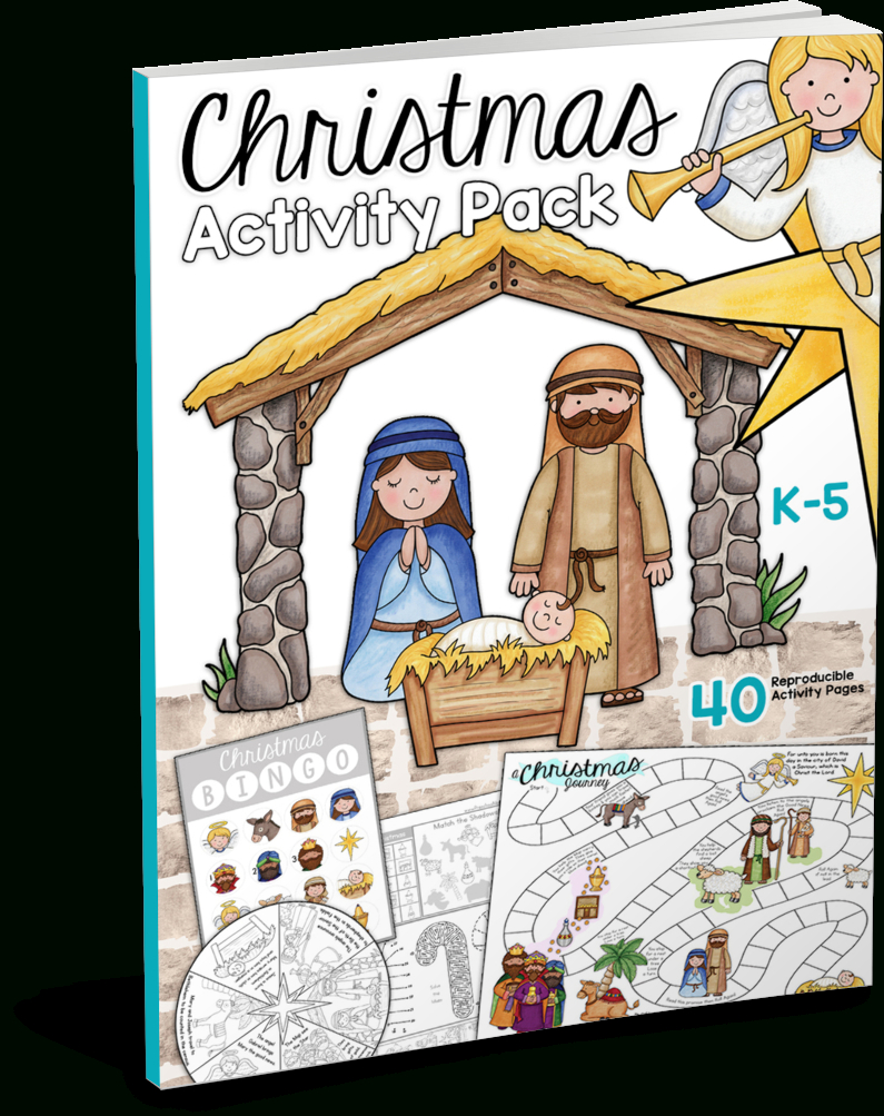 Christmas Bible Printables - Christian Preschool Printables - Free Printable Religious Christmas Games
