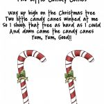 Christmas Candy Cane Poems For Preschool | New Christmas Songs   Free Printable Candy Cane Poem