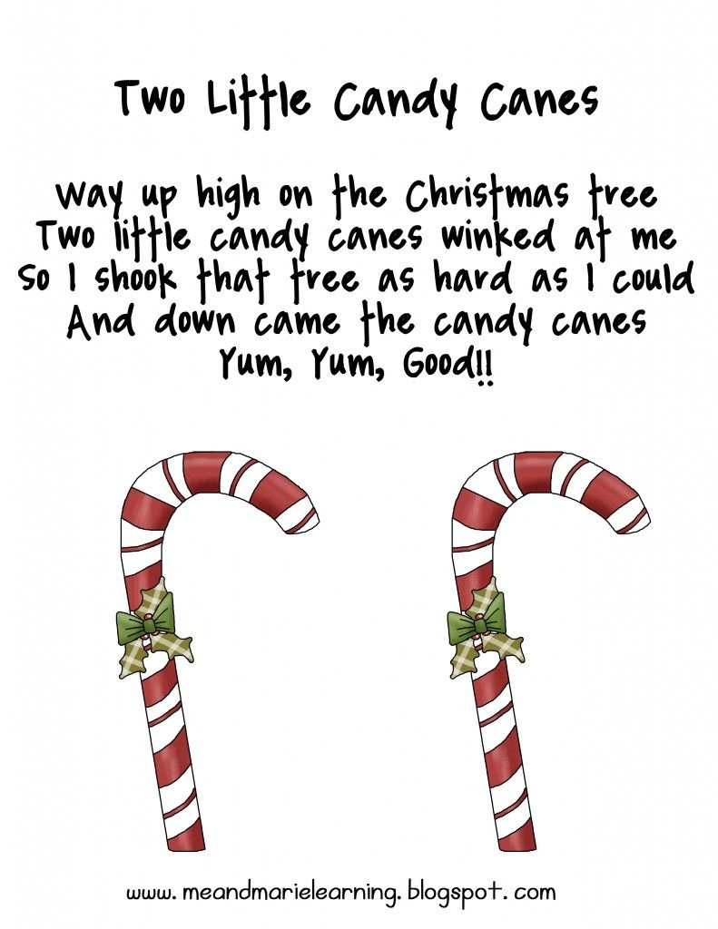 Christmas Candy Cane Poems For Preschool | New Christmas Songs - Free Printable Candy Cane Poem