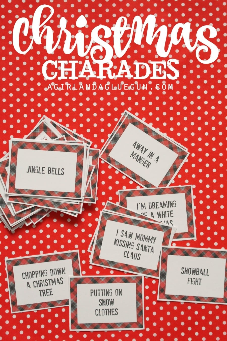 Christmas Charades Game And Free Printable Roundup! - A Girl And A - Free Printable Religious Christmas Games