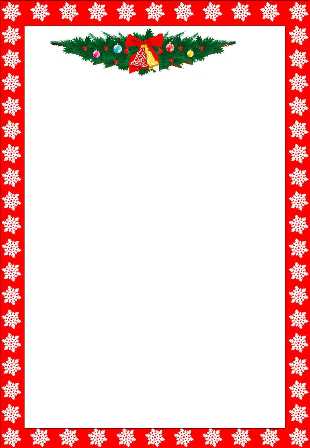 Christmas Clip Art Borders | Free Christmas Borders 020511 - Free Printable Christmas Paper With Borders