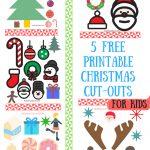 Christmas Craft Ideas For Kids  5 Free Printable Christmas Cut Outs   Free Printable Christmas Cutouts