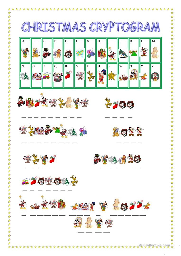 Christmas Cryptogram Worksheet - Free Esl Printable Worksheets Made - Free Printable Cryptograms
