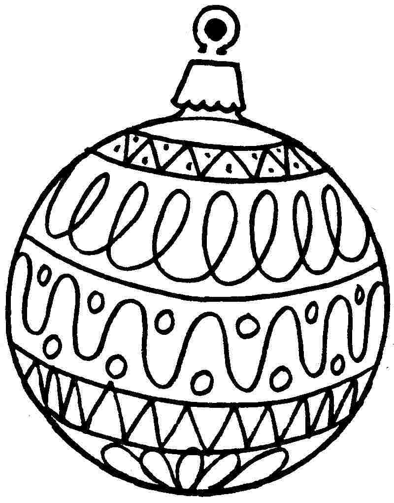 Christmas Gifts Ornament Picture. Christmas Decorations Colouring - Free Printable Christmas Tree Ornaments To Color