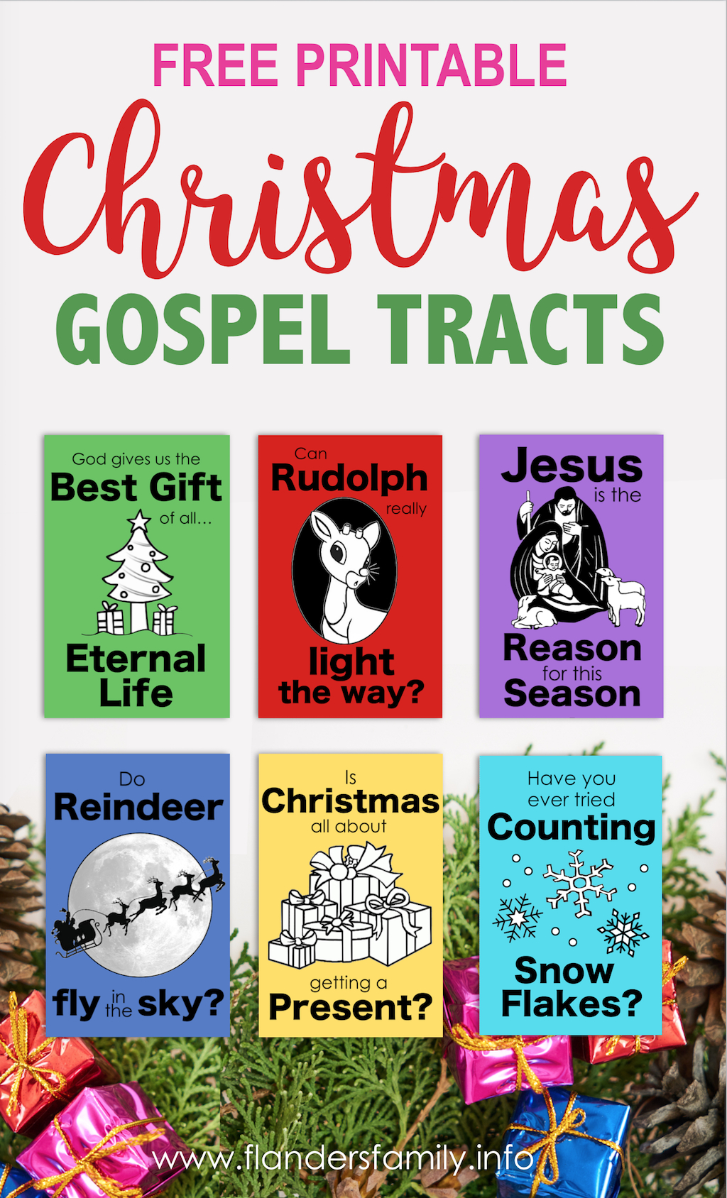 Christmas Gospel Tracts (Free Printables) - Flanders Family Homelife - Free Bible Tracts Printable