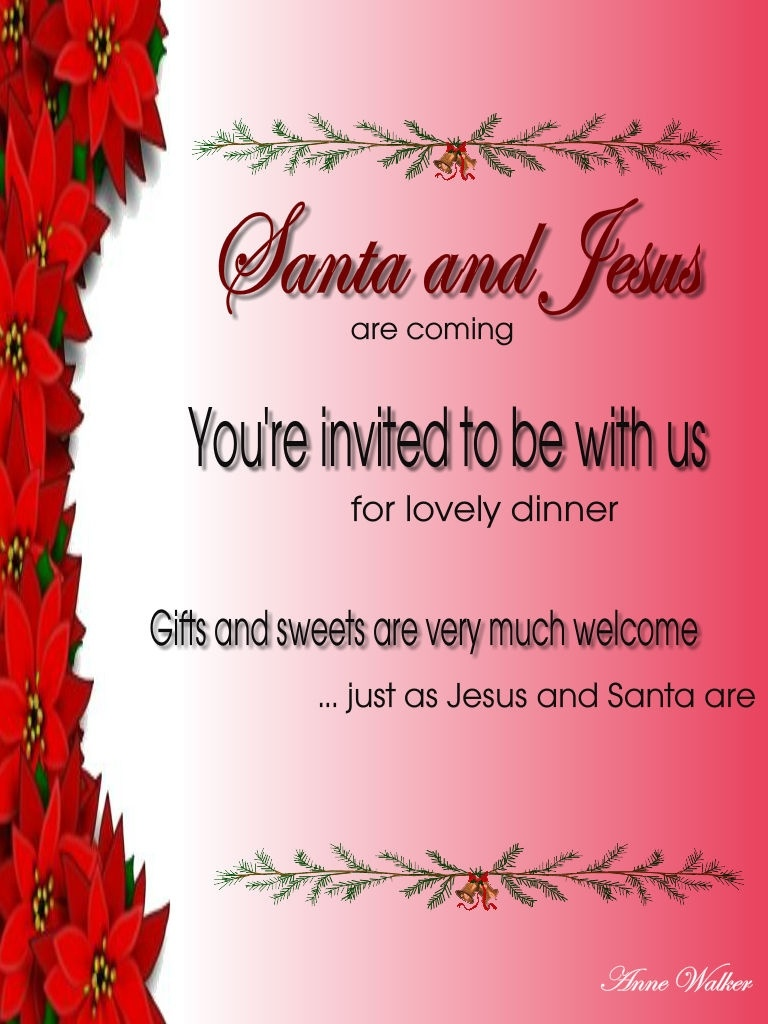 Christmas Invitation Template And Wording Ideas - Christmas - Free Printable Religious Christmas Invitations