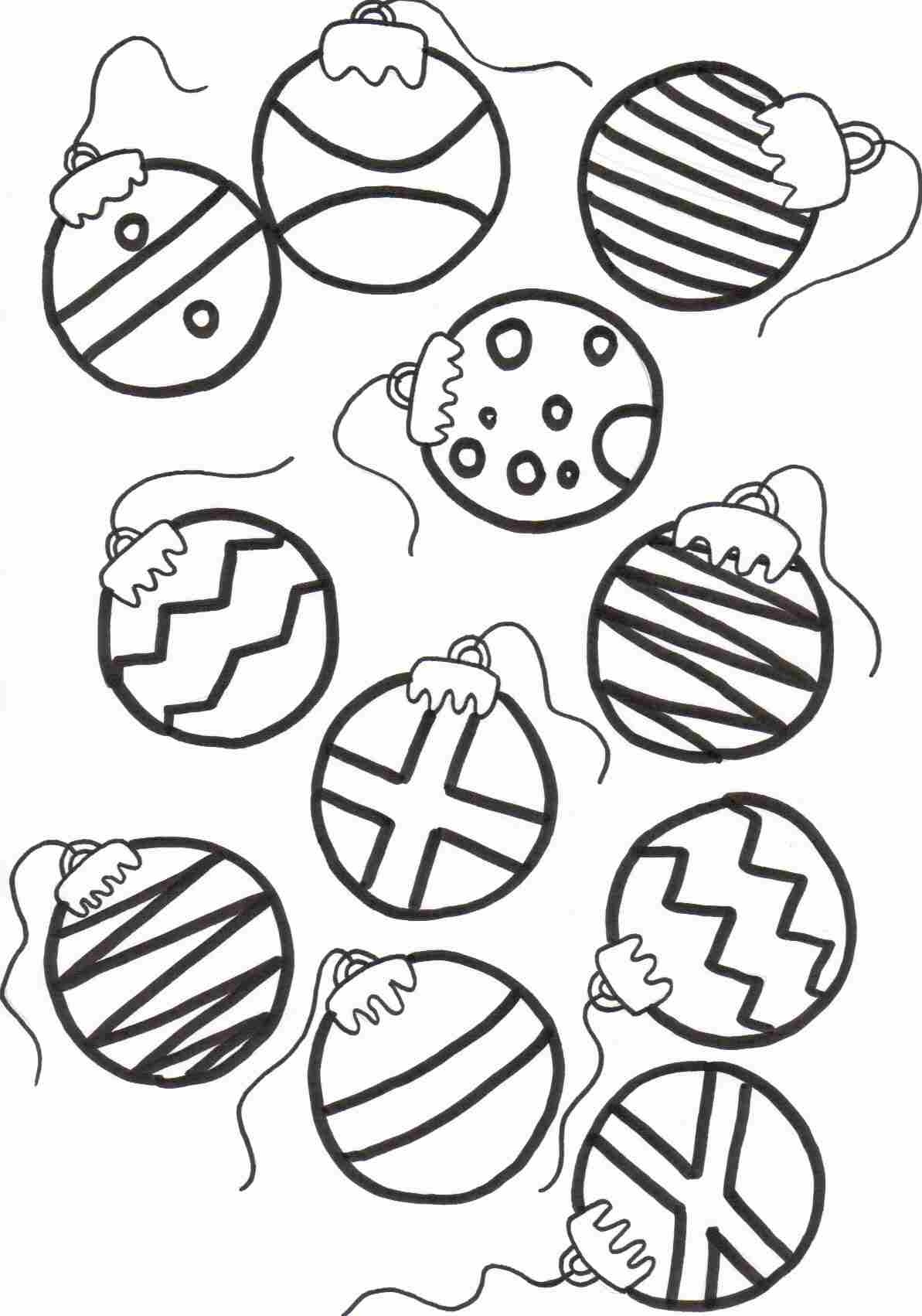 Christmas Ornaments Coloring Pages Printable - Coloring Home - Free Printable Ornaments To Color
