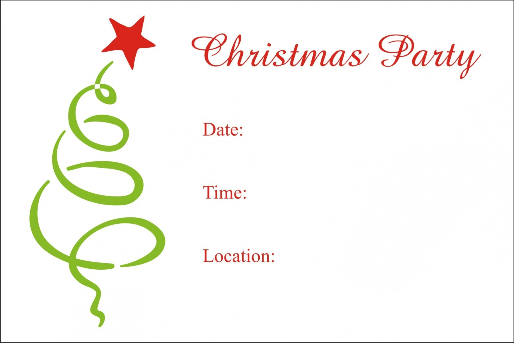 Christmas Party Free Printable Holiday Invitation Personalized Party - Christmas Party Invitation Templates Free Printable