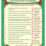 Christmas Riddle Game Diy Holiday Party Game Printable   Etsy   Free Printable Christmas Riddle Games