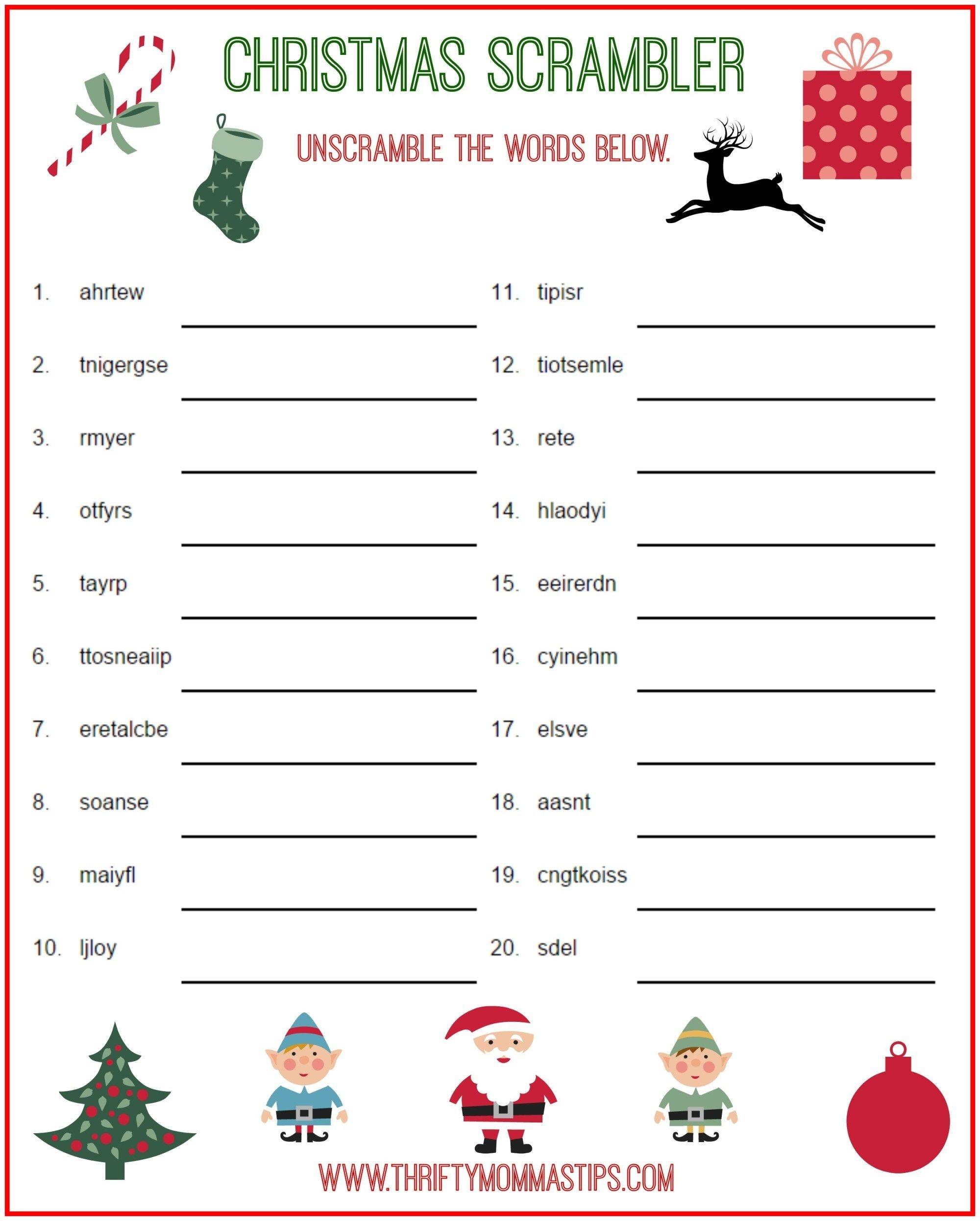 Christmas Scrambler Free Kids Puzzle Printables | Christmas Family - Christmas Song Scramble Free Printable