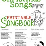 Christmas Songs For Kids – Free Printable Songbook! A Coloring Book   Free Printable Christmas Carols Booklet