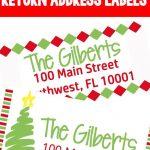 Christmas Themed Return Address Labels | The Ultimate Pinterest   Free Printable Return Address Labels