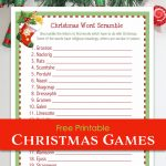 Christmas Word Scramble (Free Printable)   Flanders Family Homelife   Free Printable Religious Christmas Games