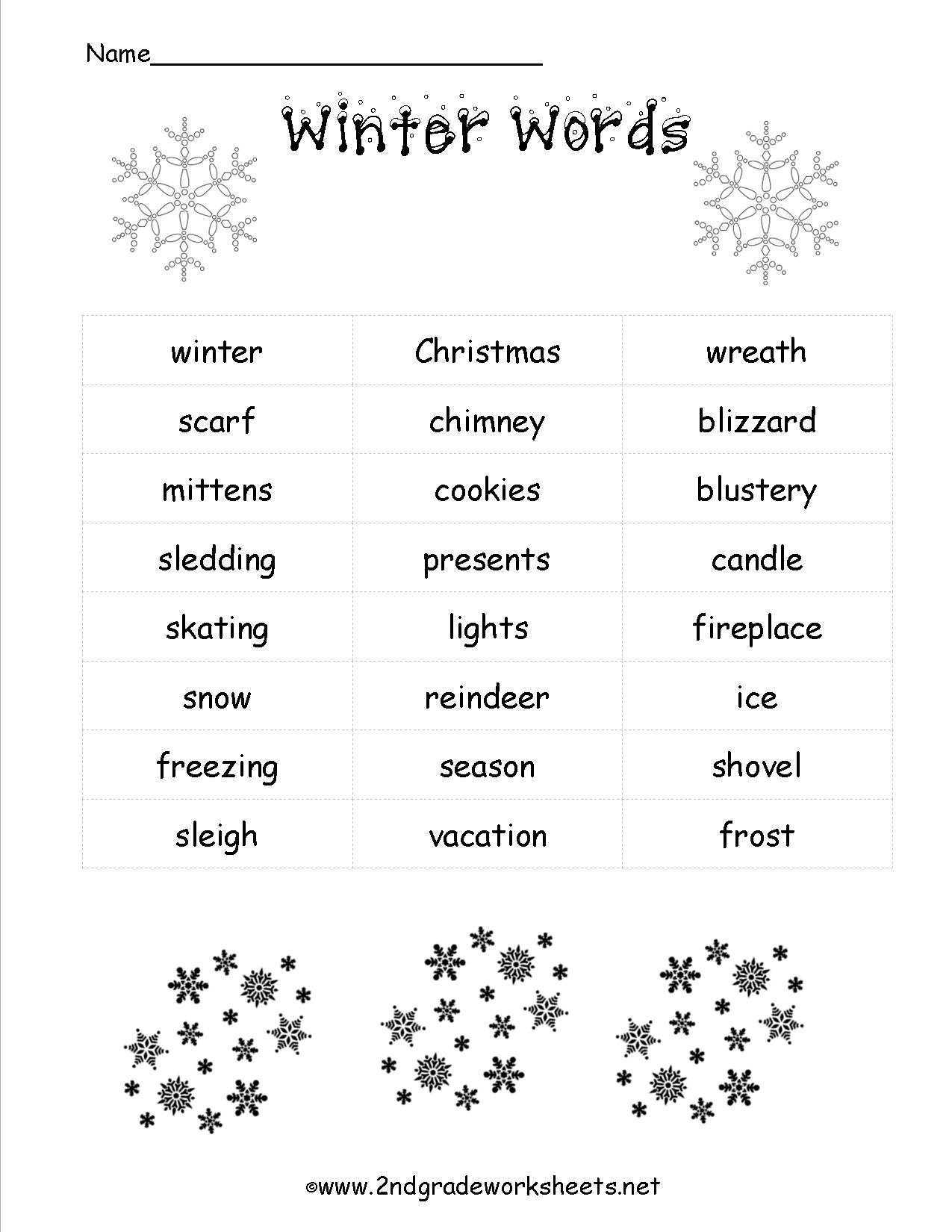 Christmas Worksheets And Printouts - Free Printable Christmas Worksheets For Third Grade