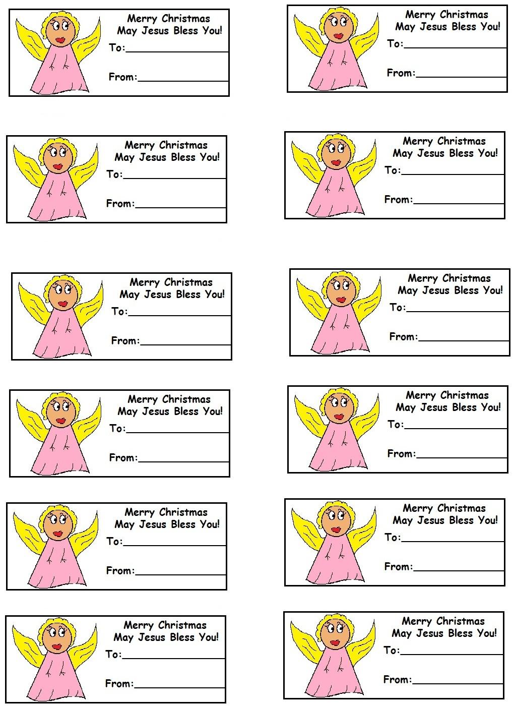 Church House Collection Blog: Christmas Gift Tags - Free Printable Angel Gift Tags