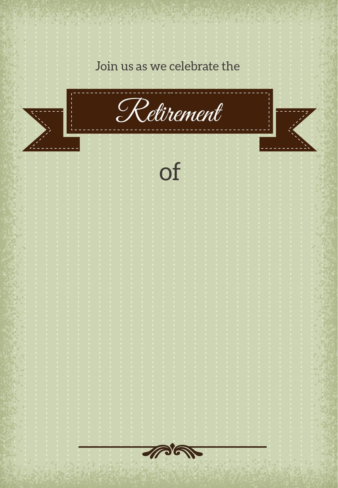Classic Banner - Free Printable Retirement Party Invitation Template - Free Printable Retirement Cards