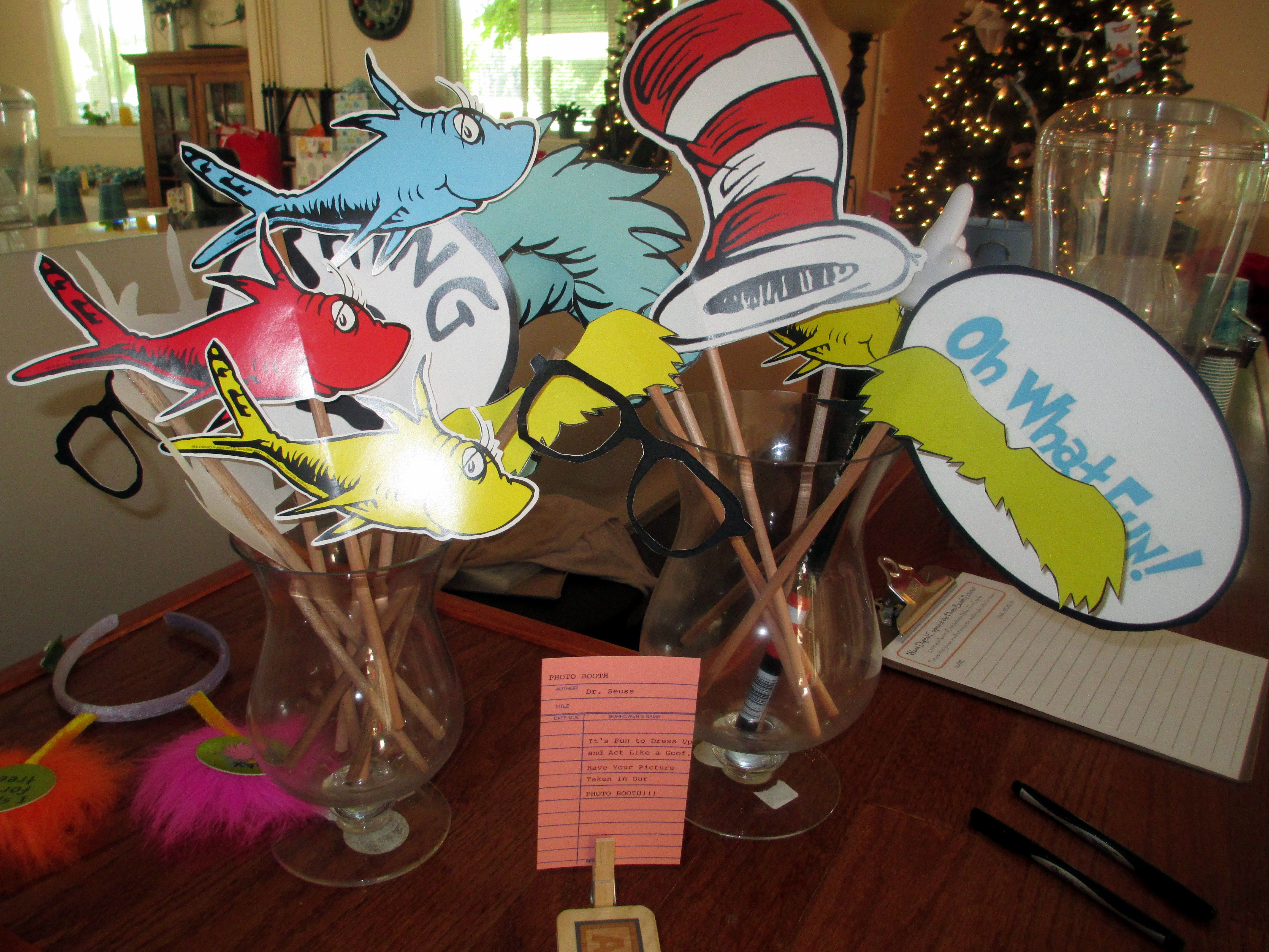 Click Here To Download Free Dr. Suess Photo Booth Props! A Photo - Free Printable Dr Seuss Photo Props