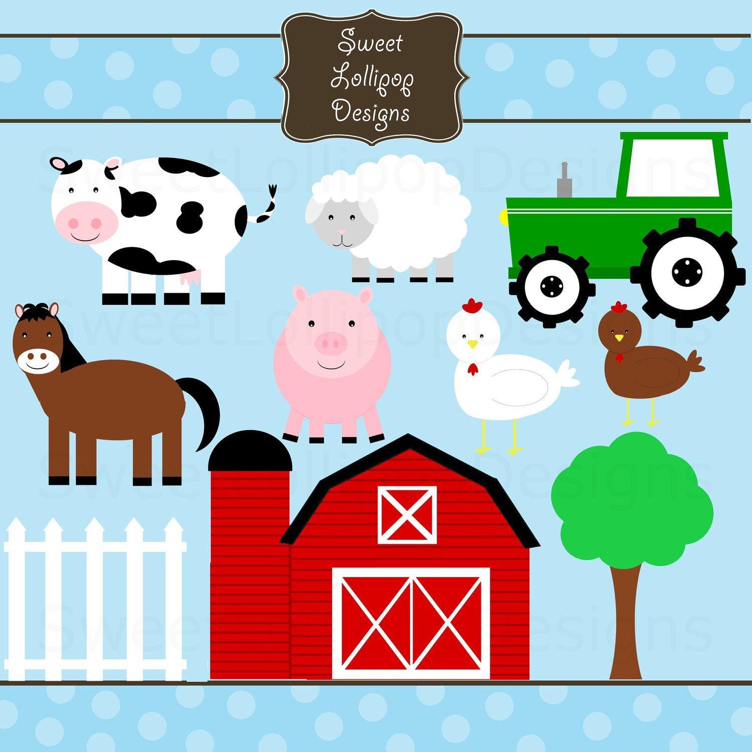 Clipart Farm Animals - Free Large Images | Farm Bday Party In 2019 - Free Printable Farm Animal Clipart