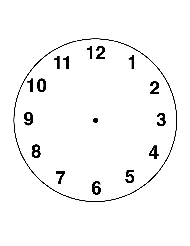 Clock Face Template Free | K5 Worksheets | Math Worksheets | Blank - Free Printable Clock Faces