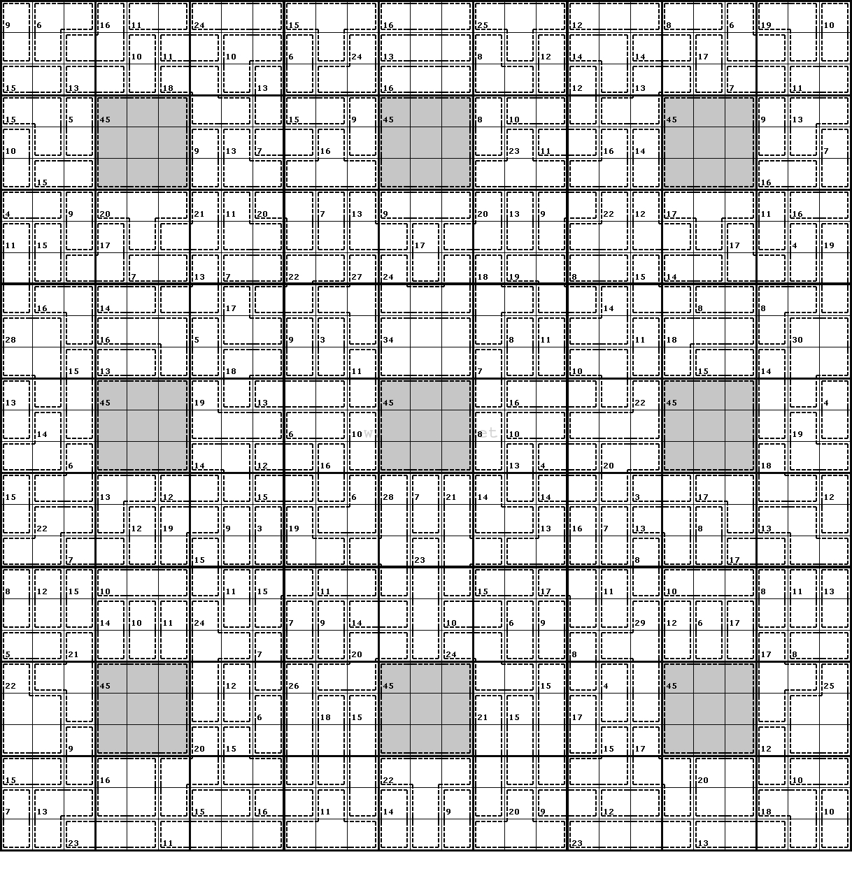 Clueless Killer Sudoku #2 - Killer Sudoku Free Printable
