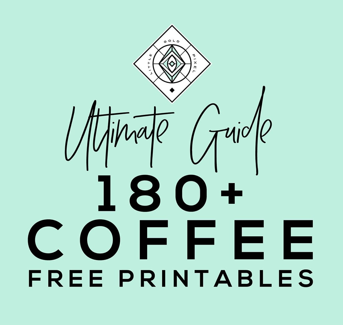 Coffee Free Printables: 180+ Ultimate Guide • Little Gold Pixel - Free Printable Fragrance Free Signs