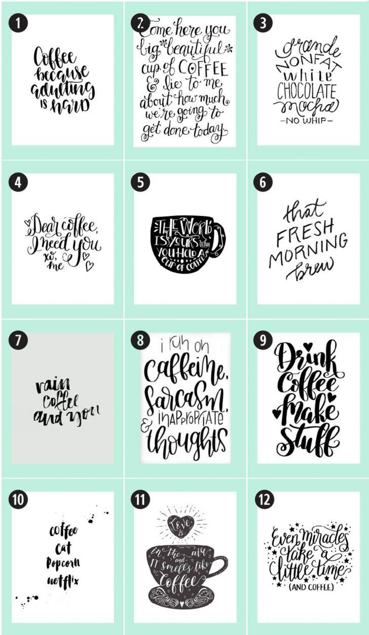 Free Coffee Printable Art