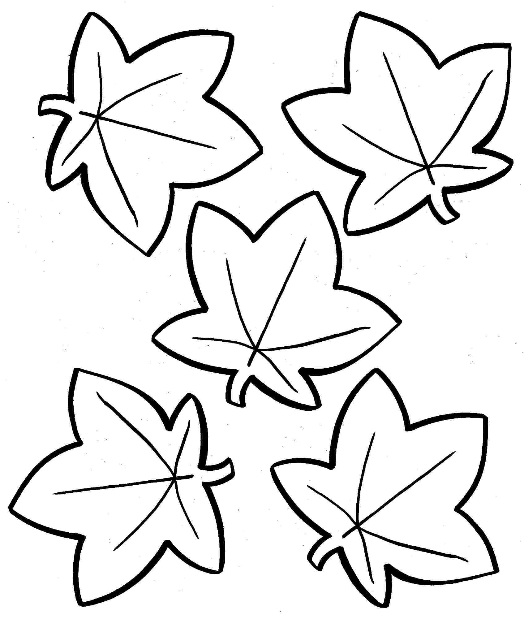 Coloring: Autumn Leaves Coloring Pages. - Free Printable Fall Leaves Coloring Pages
